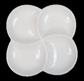 Fyrkantig - Tallrik 4-delad - Fyrklöver