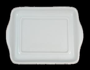 Rektangulär - Assiett - Små handtag