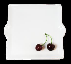 Fyrkantig - Assiett - Små handtag
