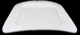 Fyrkantig - Bågformad upphöjd kant Tallrik stor