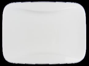 Rektangulär - Assiett -Rundad innerkant