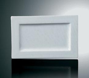 Andra sortering: Rektangulär Tallrik - upphöjd platt kant 4-Pack