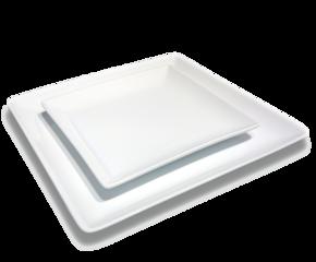 Andra sortering: Fyrkantig - Elegant - Tallrik 6-pack
